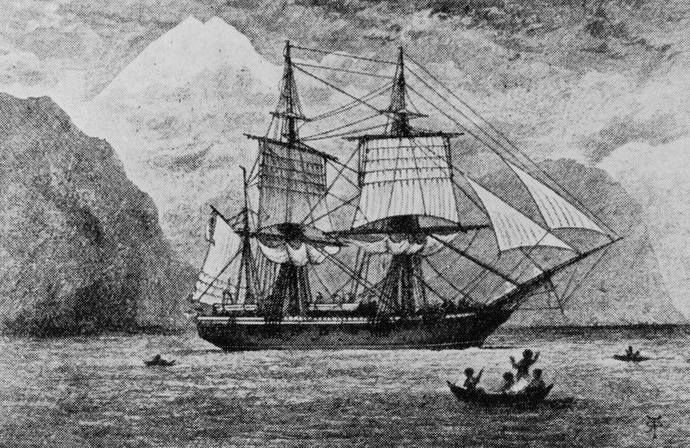 British research ship HMS Beagle, which carried Charles Darwin