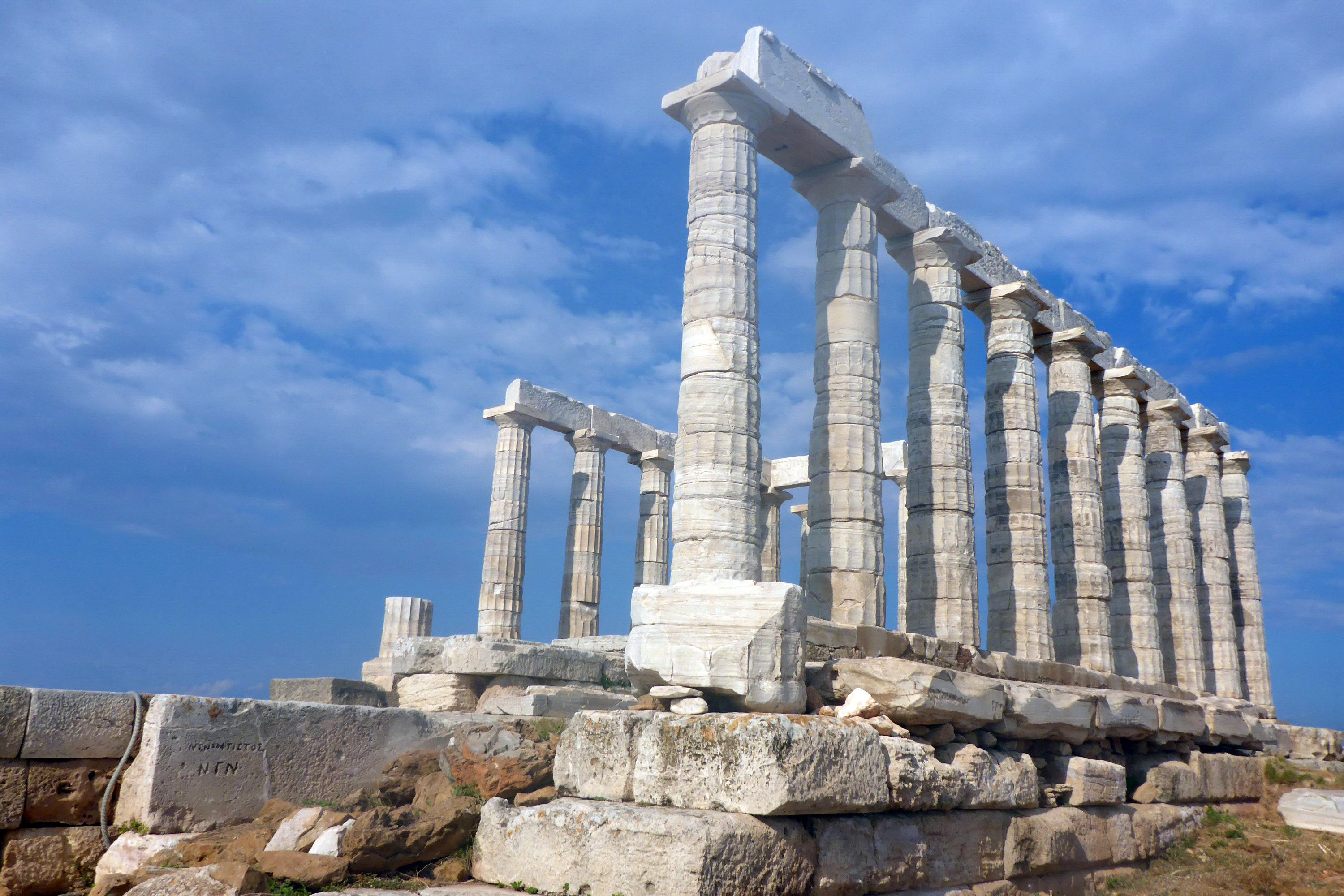 Cape Sounion Temple of Poseidon near Athens, Greece