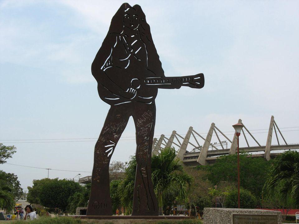 Shakira Statue in Barranquilla, Colombia