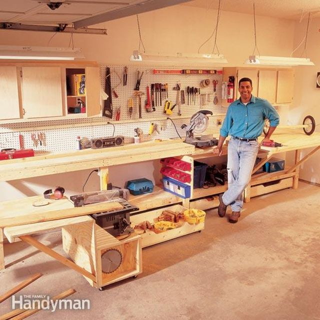 small space workbench plan from the family handyman - Workbench Design Ideas