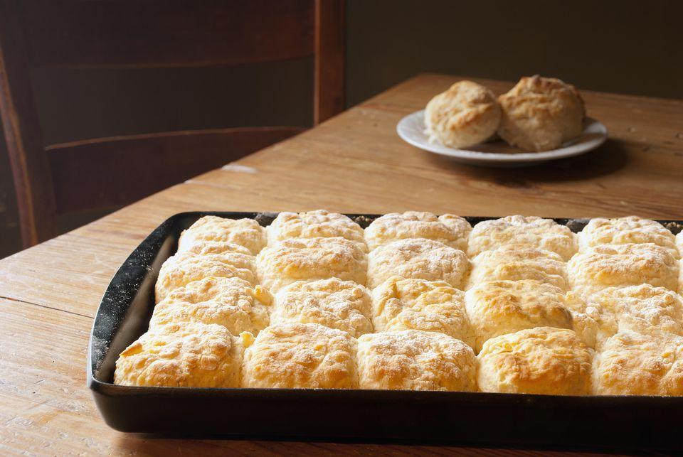 Hot Fresh Biscuits in Sunlight
