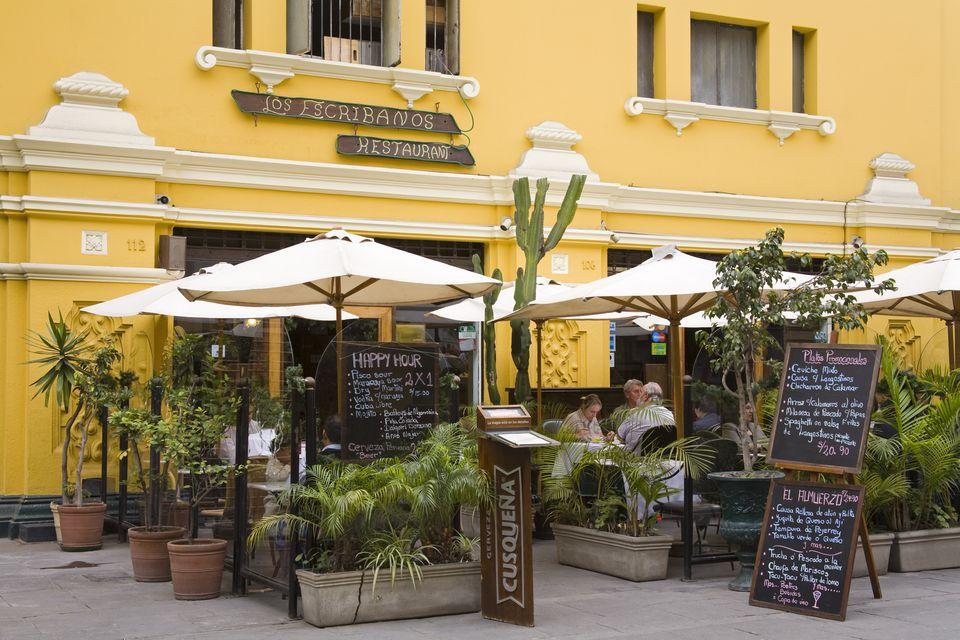 Los Escribanos Restaurant on Plaza Mayor (Plaza De Armas) Lima Centro District.