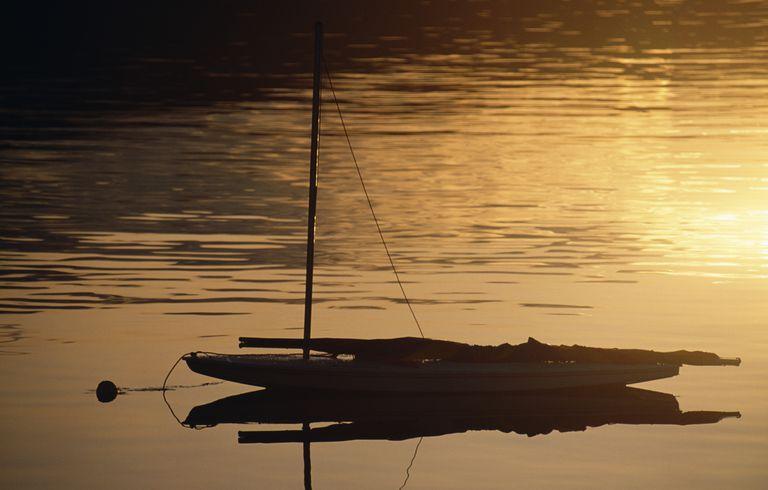 Sailboat SUNFISH at mooring