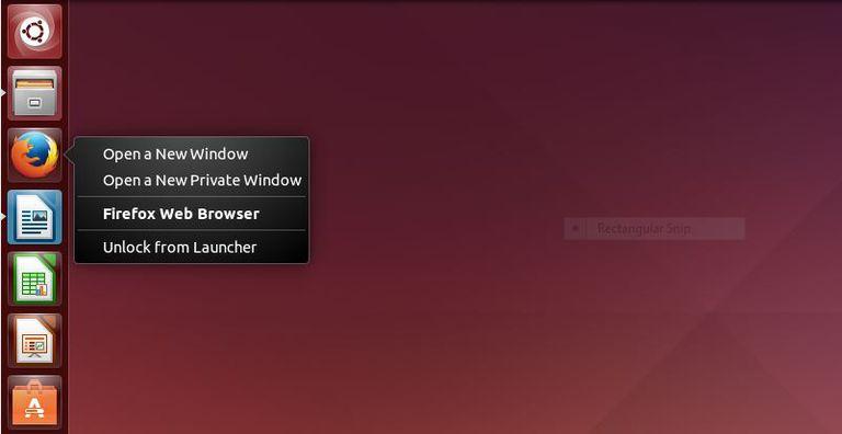 Unity Launcher Right Click Menu