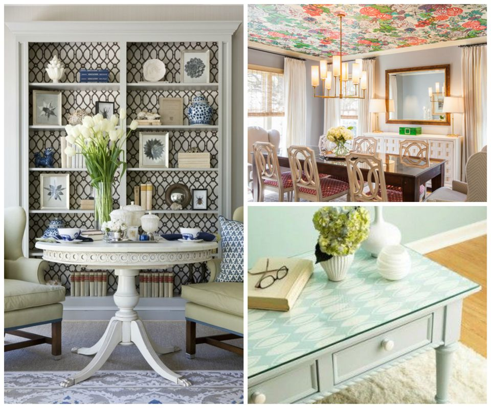 9 ways to use wallpaper in a living room for Wallpaper on walls home decor furnishings