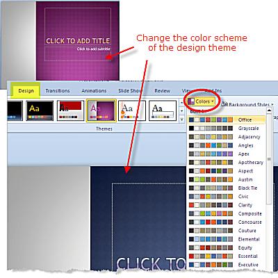 design theme powerpoint