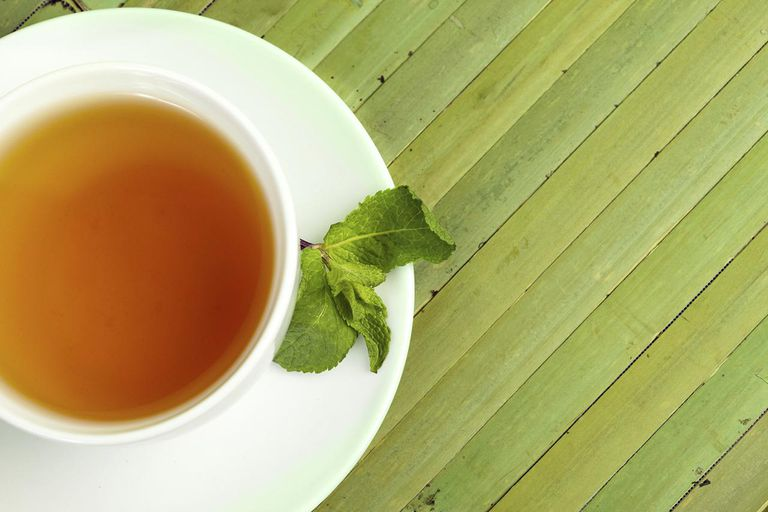 Green tea with Mint.