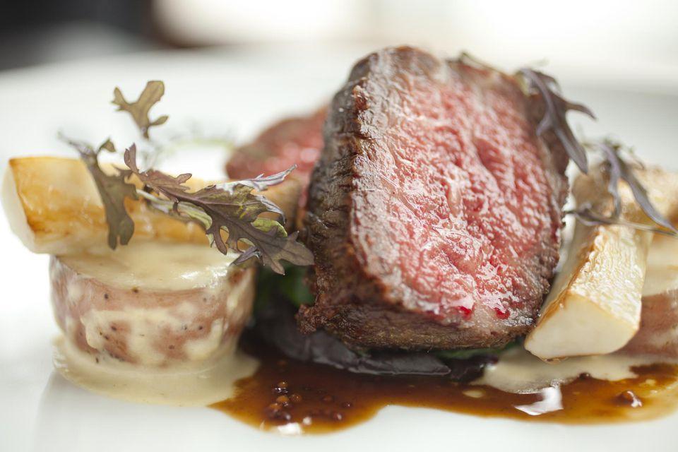 Rare wagyu beef filet