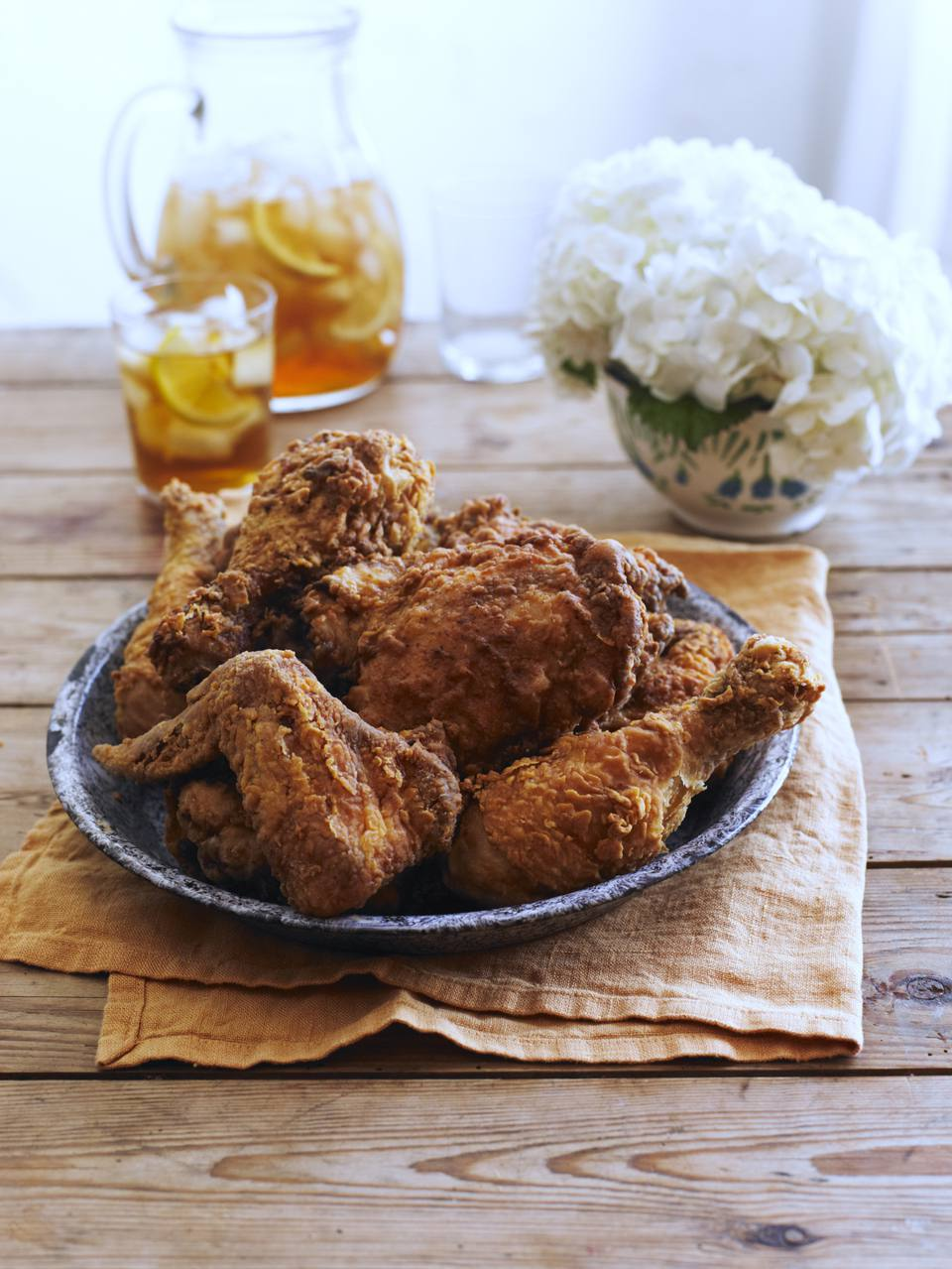 A plate of fried chicken