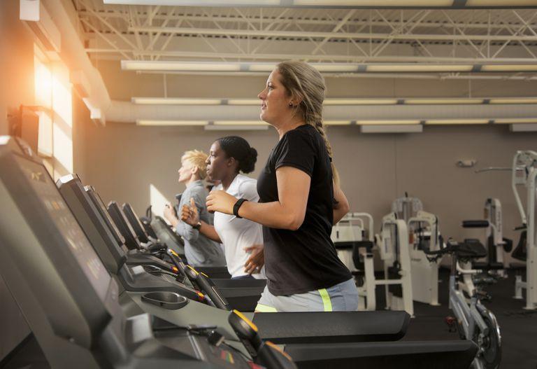 women on treadmills