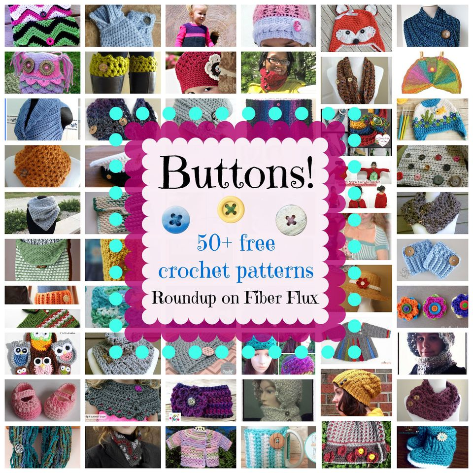 50 Crochet Button Free Patterns