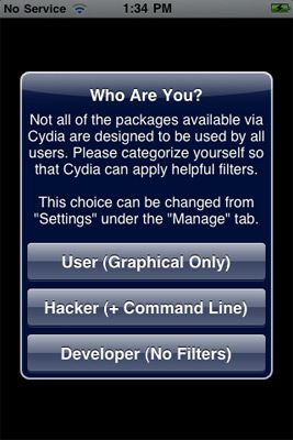 using Cydia, step 1