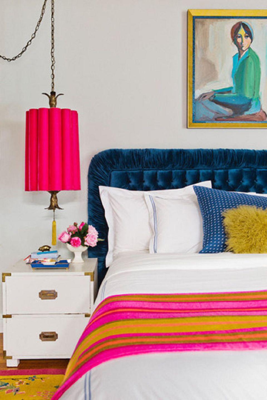 25 master bedroom lighting ideas bright pink hanging pendant light aloadofball Image collections