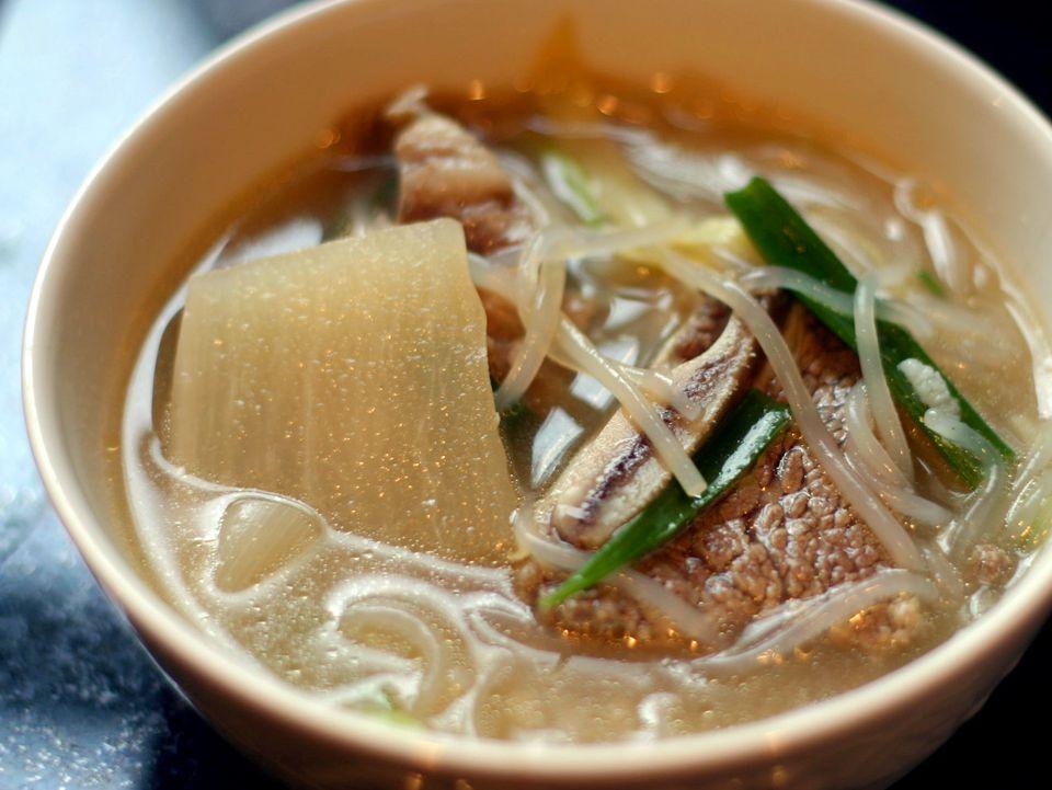 Galbi Tang (Korean shortrib soup)