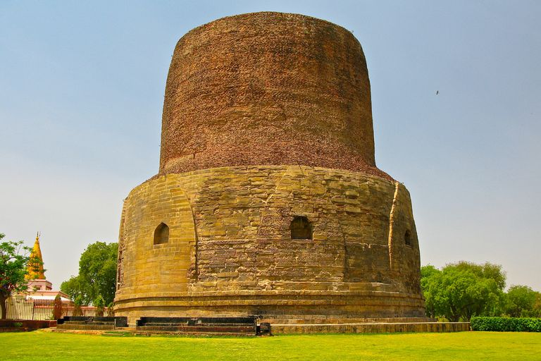 Dhamekh Stupa, where the Buddha gave the first sermon on the Four Noble Truths