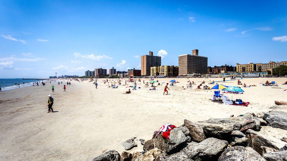 Brighton Beach on a spring day, Brooklyn, New York City