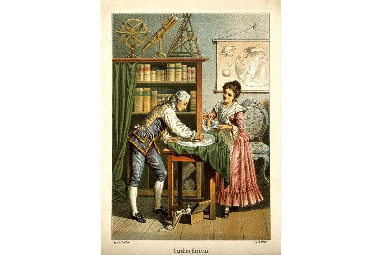 Caroline and William Herschel