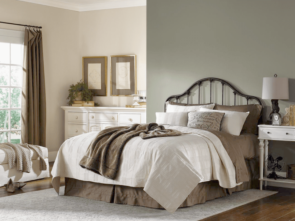 soothing sherwin williams escape gray - Pics Of Bedroom Colors