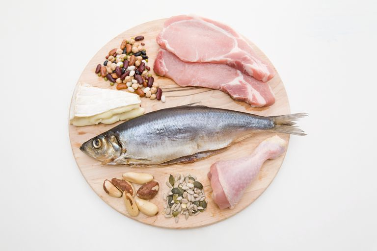 A platter of different protein sources