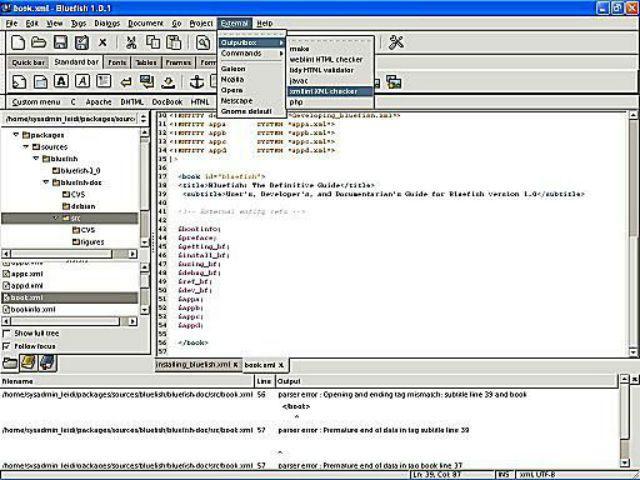 Bluefish screenshot