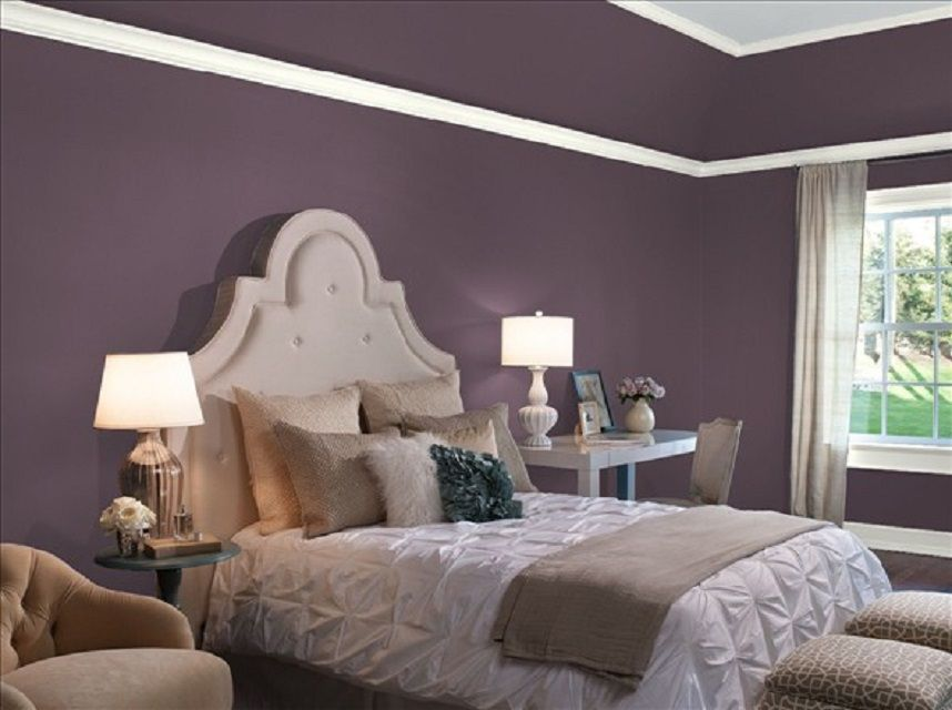 10 great pink and purple paint colors for the bedroom - Purple Paint Colors For Bedrooms