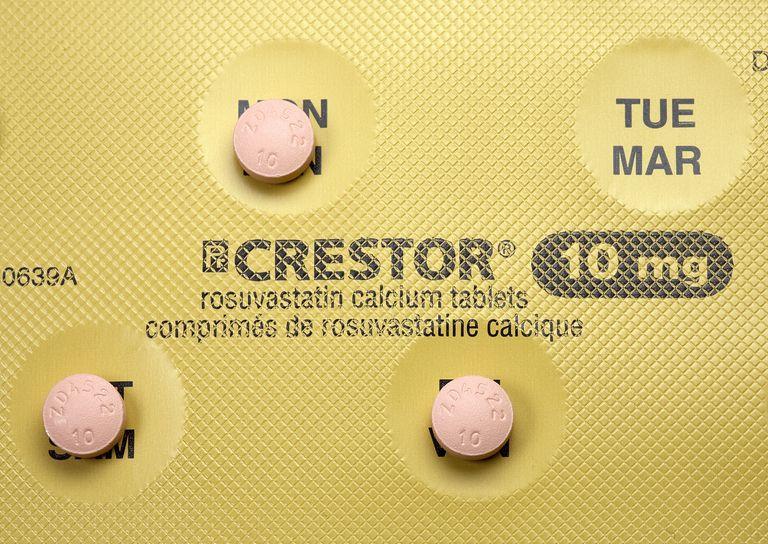 crestor pills sitting on their blister pack