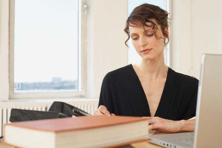 Writer working at desk