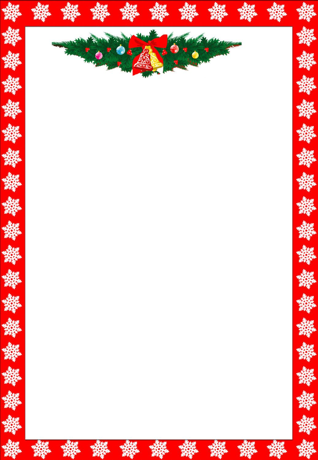 free word christmas border templates  487 Free Christmas Borders and Frames
