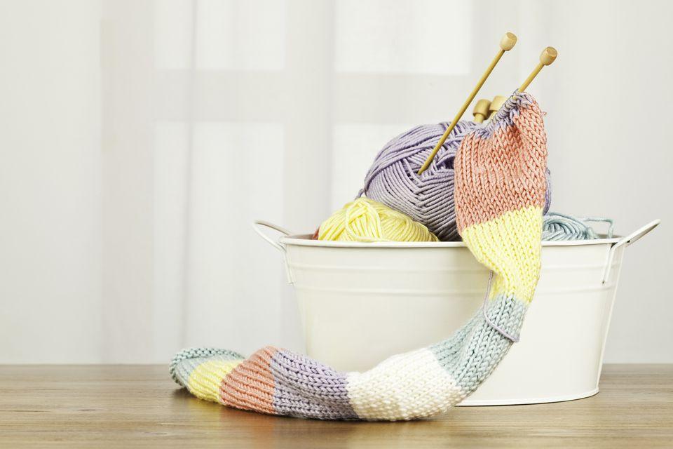 Handknit scarf