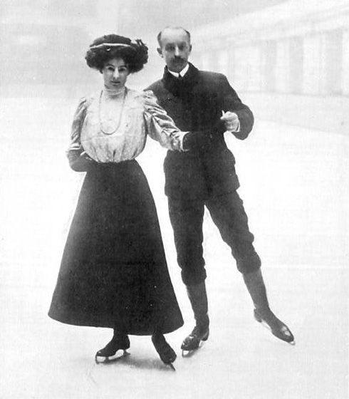 Madge and Edgar Syers - 1908 Olympic Pairs Skating Bronze Medalists