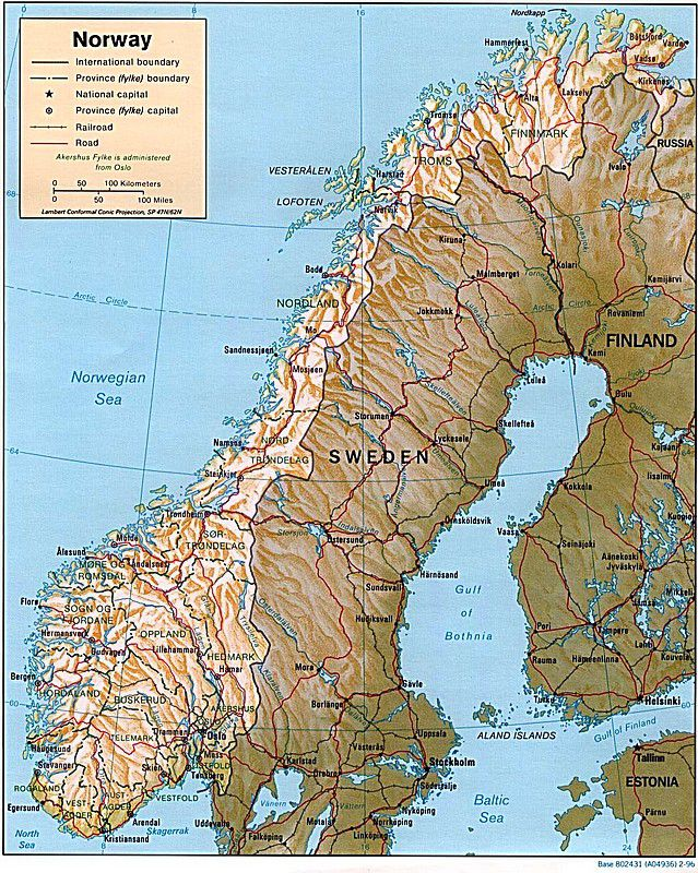 Maps Of Scandinavia - Norway map detailed