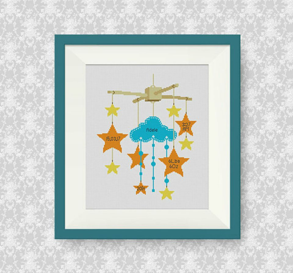 10 Baby Announcement Cross Stitch Patterns – Baby Announcement Cross Stitch