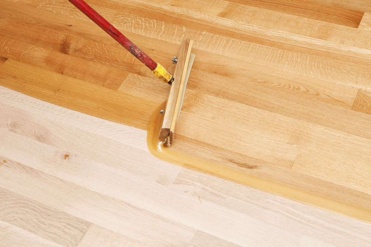 Instructions on how to refinish a hardwood floor for Hard laminate flooring