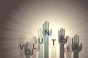 Volunteering Raised Hands