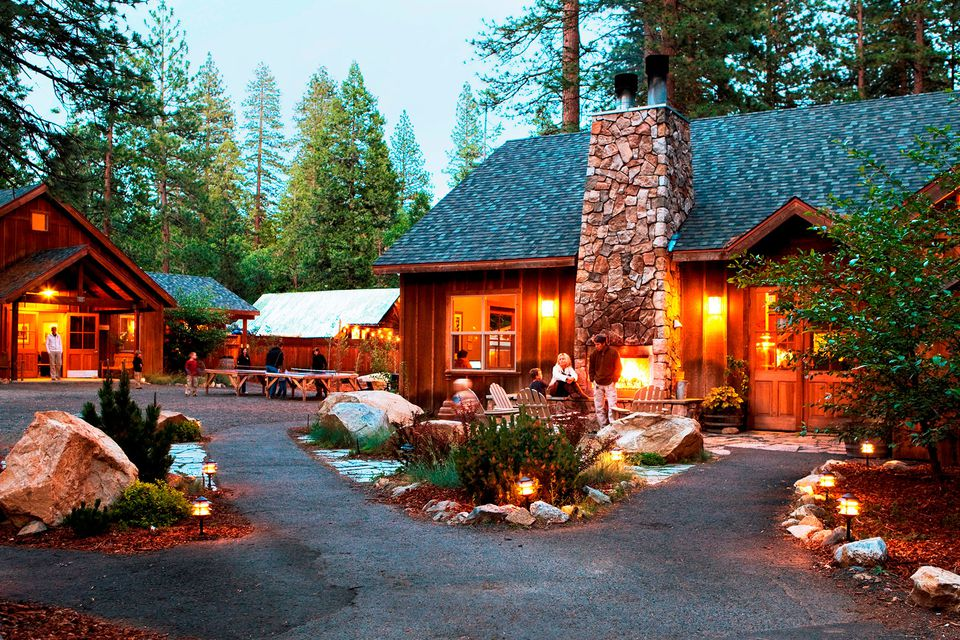 Evening at Evergreen Lodge