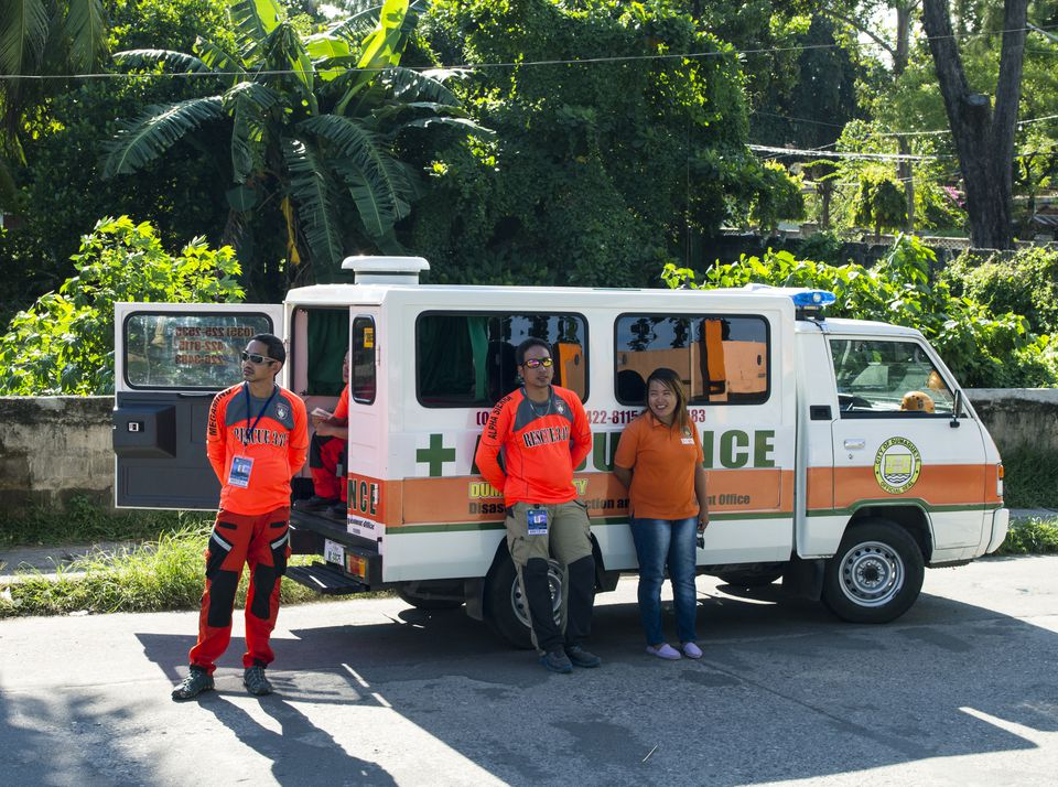Ambulance workers in Dumaguete, Philippines