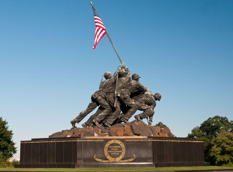 Marine Corps War Memorial, also called the Iwo Jima Memorial (1954), Arlington, Virginia