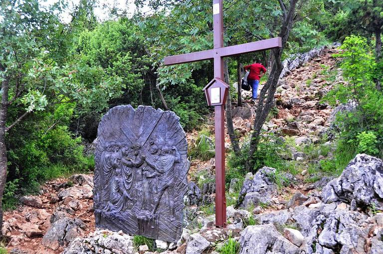 Estación de la Cruz en Medjugorje