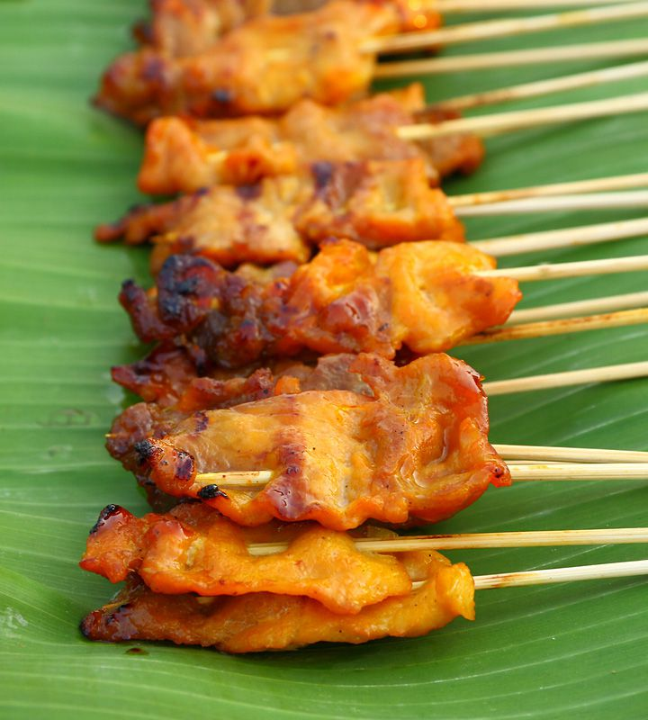 Juicy Pork Satay, fresh off the grill!