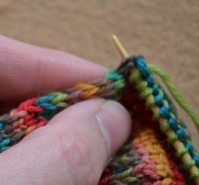 Pick up Gusset Stitch