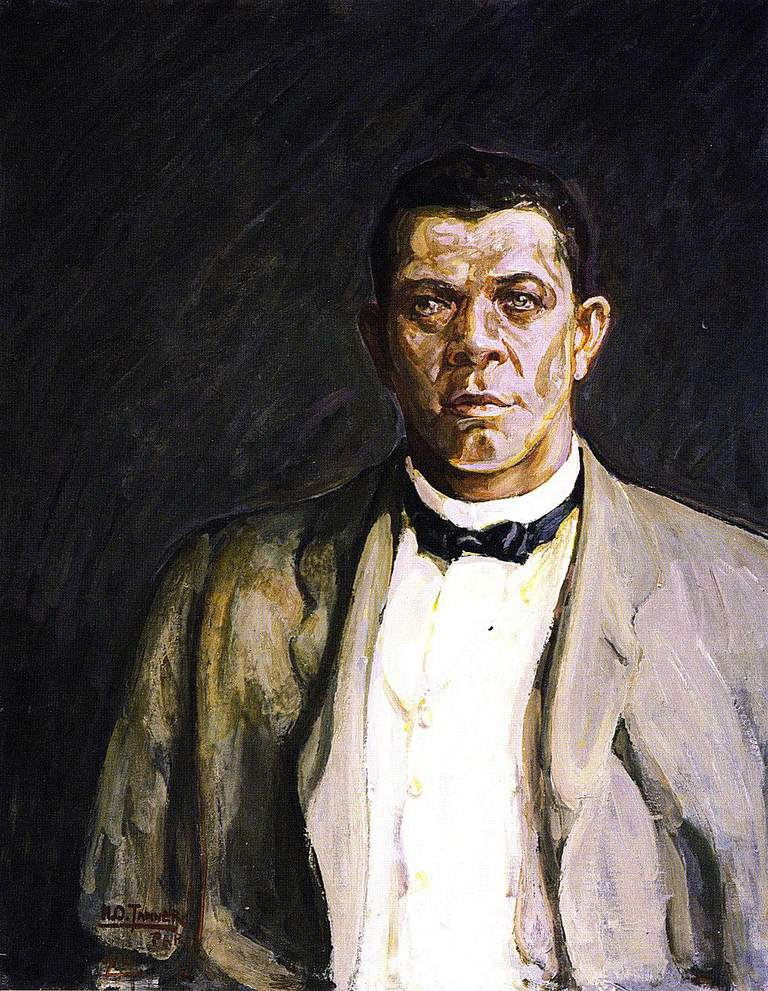 Depiction of Booker T. Washington by Henry Osawa Tanner