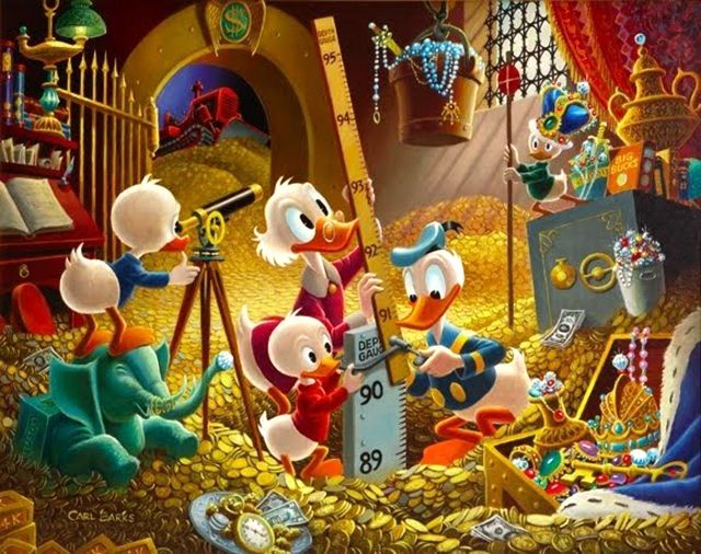 Embarrassment of Riches by Carl Barks - Scrooge McDuck