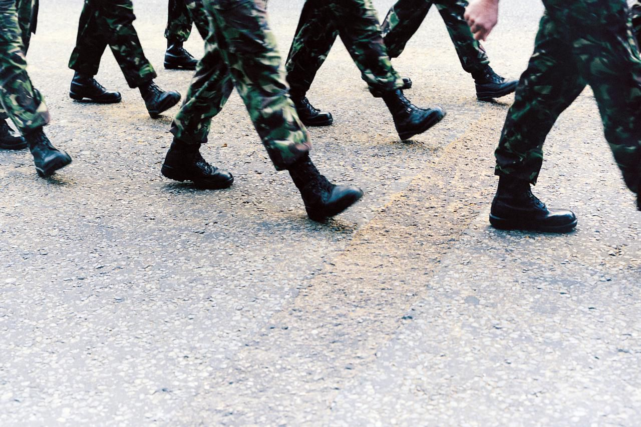 Chapter 61 medical discharge - Army Soldiers Marching Low Section