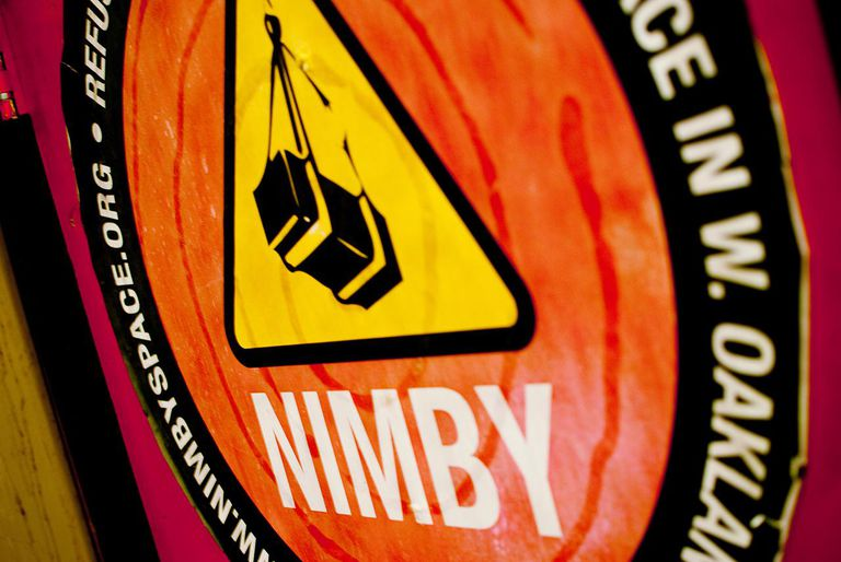 NIMBY sign