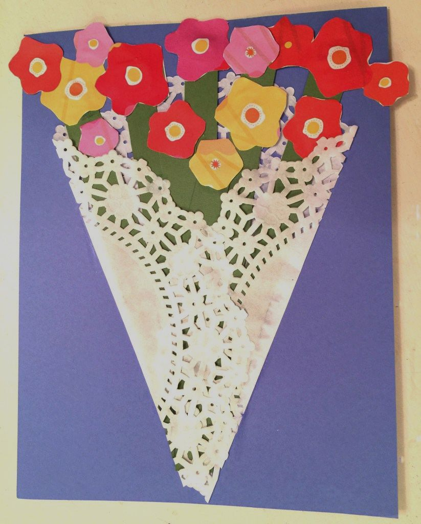15 creative doily craft ideas kids craft paper doily mothers day card jeuxipadfo Images