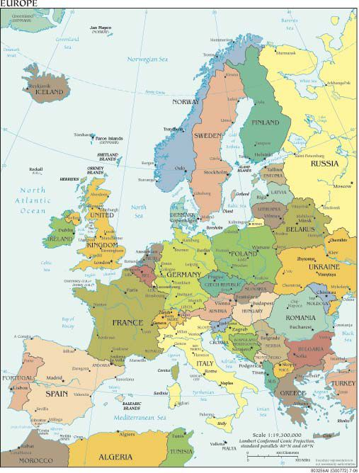 Northern Europe Cruise Maps - Sweden european map