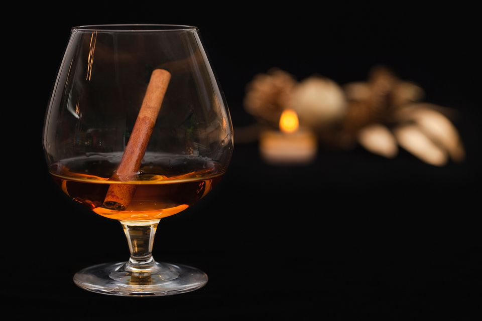 Cinnamon Schnapps in a Snifter