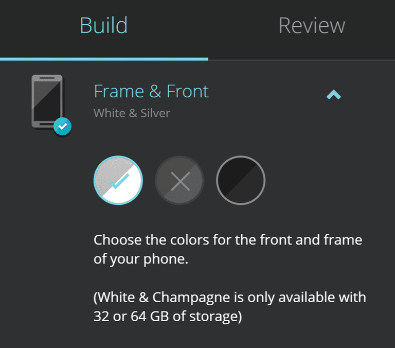 Moto X frame and front