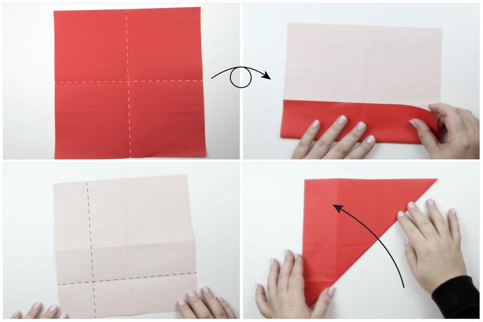 origami santa tutorial 02