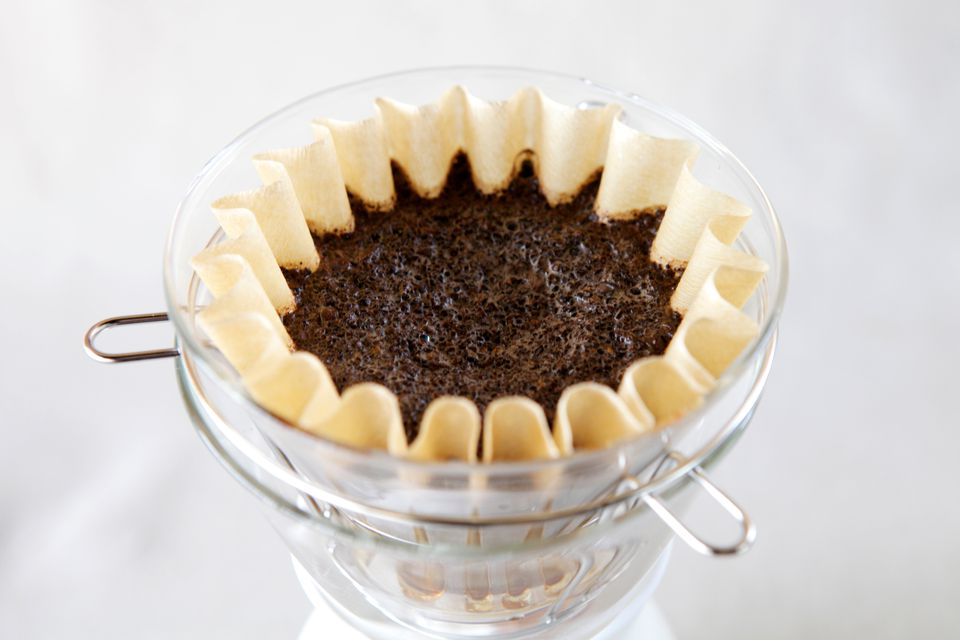 Close-Up Of Coffee In Filter On Table